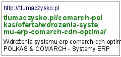 wdrożenia comarch optima
